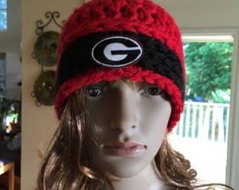 Chunky GA Bulldog Hat