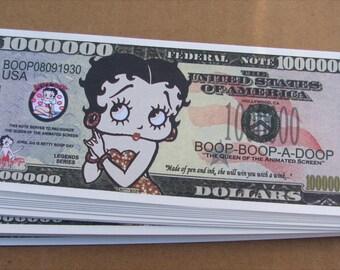 Betty Boop 1 Million Dollar Novelty Money *PRE-ORDER*