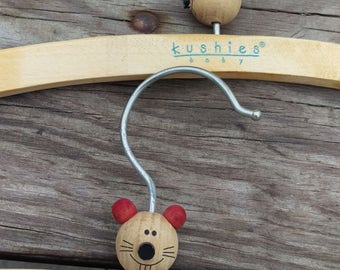 Cute Kushies Wooden Baby Clothes Hangers