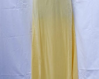 Sunny yellow bias cut lingerie 1940s