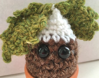Crochet, Holly, Christmas, sprout, xmas plant, xmas pudding, decoration