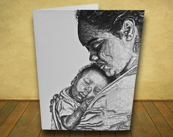 Sweet Love - Mother and Baby Greeting Card