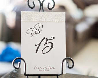 Reception Table Numbers | Luxury Table Numbers | Custom Reception Table Numbers | Luxury Reception Table Numbers | Elegant Table Numbers