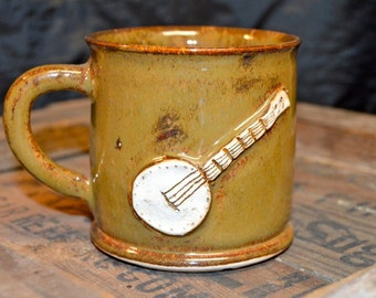 Brown Handspun Banjo Mug