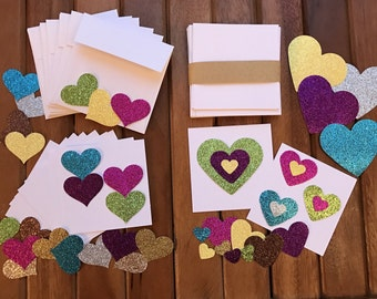 Mini Hearts Card Making Kit (can also be bought as completed cards - see description)