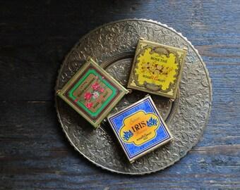 Vintage French soaps, vintage 1950's Roger & Gallet miniature guest soap, Paris France savon soap