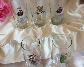 Father's Day Special! Set of five (5) German beer glasses