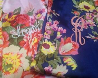 Flower girl robes, bridesmaid robes, kid robe , little girl robe , flower girl outfit , flower girl gift, satin robe, kid wedding robe