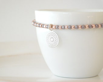 bracelet boho rosé with ornament