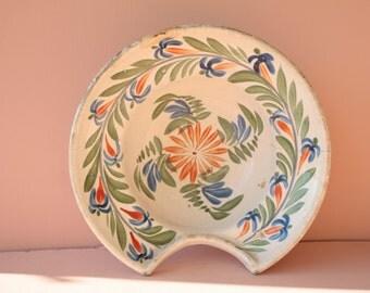 Vintage French ceramic barbershop shaving bowl.
