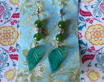 Fairy enchantment gemstone and glass earrings