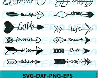 60 % OFF, Arrow Words Svg, Arrow SVG File, Love clip art, Arrow Cut Files, svg, Arrows Digital, dxf, ai, eps, png, Arrows with Words Svg