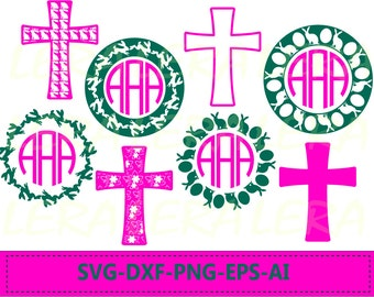 60 % OFF, Easter SVG, Cross Svg, Easter Bunny svg, Easter Cross Cut Files svg, dxf, ai, eps, png, Cross Pattern svg, Rabbits Monogram Frames