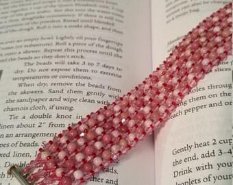 Peaceful Heart healing bracelet pink pearl rhodochrosite chakra love