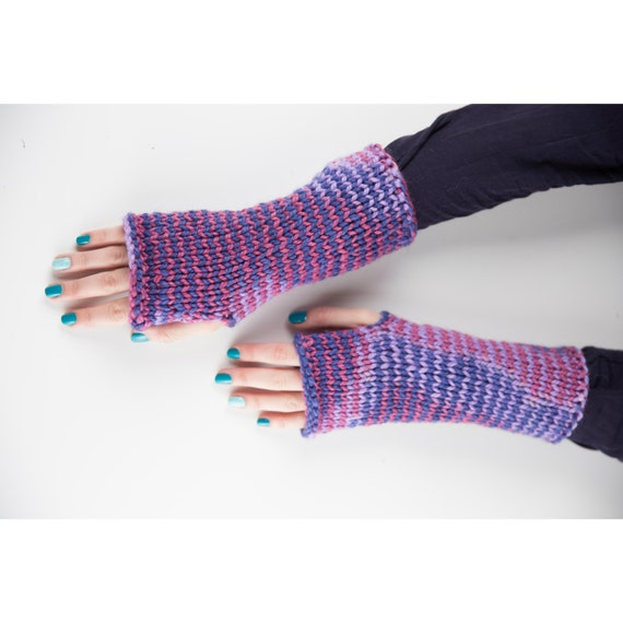 Colourful Gloves, Knit Woman's Arm Warmers, Boho Chic Gloves, Texting Gloves, Glove Mittens, Knitted Gloves, Christmas Gift for Her