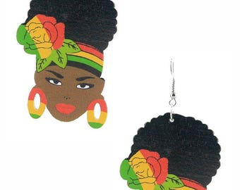 Afro Girls Earring