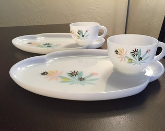 Set of two- Vintage luncheon cups and plates.