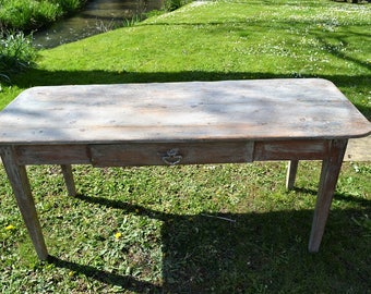 Antique Rustic French Farmhouse Table