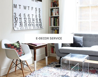 E-Decor Service, Interior Design, E-design, Room Design, Interior Styling