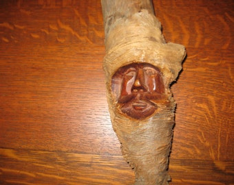 Antique handcarved wooden gnome