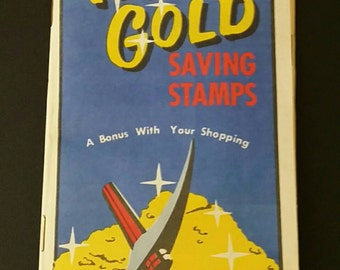 Texas Gold savings trading stamps filled book