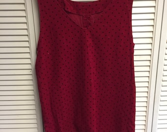 80's Red polka dot mini dress