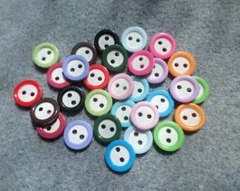 11mm round resin buttons, Round buttons, Resin buttons, Buttons, Craft buttons, Sewing buttons, Scrapbooking, Circles