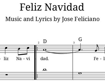 Feliz Navidad by Jose Feliciano Accordion Sheet Music