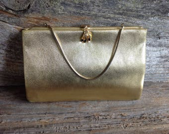 Vintage HL Harry Levine Purse with Detailed Rhinstone Clasp vintage/bridal/purse/evening bag