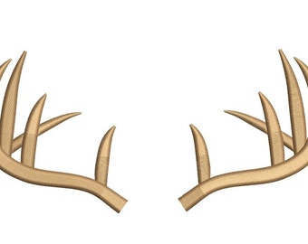 Deer Antlers Embroidery Design 3 sizes instant download