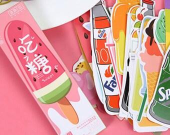 Ice Cream Bookmarks Paper Ephemera Scrapbooking Supplies