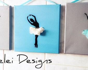 Wall ballerina decoration/Set tablouri decorative cu balerine