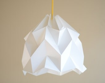 Chestnut paper origami lampshade grey wave paper origami lampshade white aloadofball Images