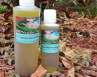 SAMPLE COMBO / SENSITIVE WaterLess Pet Shampoo & Sensitive Conditioner 100% Organic by Nudie Naturals and Bonus Bath Gloves
