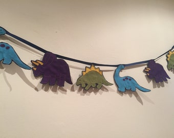 Children's Bunting ~ Handmade kids bunting decoration ~ Dinosaur design