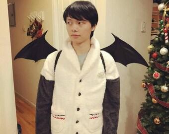 Bat Wing Black Devil Cosplay Costume Vampire Morrigan (Medium)