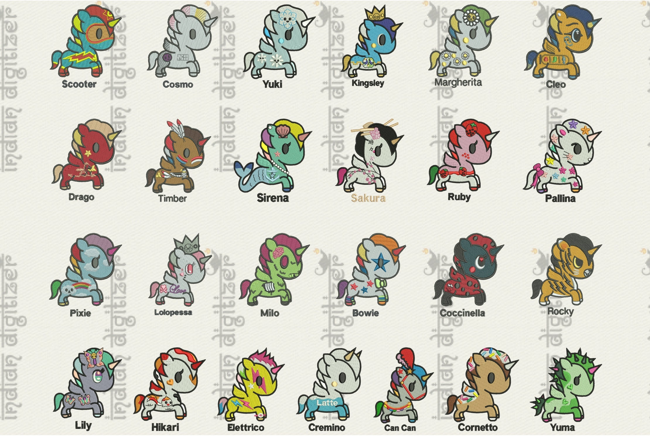 50 off unicorno kawaii tokidoki 25 unicorns for 4x4in - Libero unicorno pagine da colorare ...