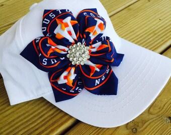 Houston astros cap, astros cap, womens baseball cap, trucker cap, bling cap