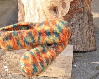 Felt shoes in Orange tones size 39/40