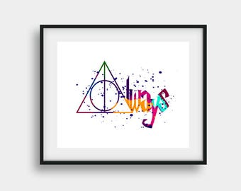 Harry Potter Always, Harry Potter Decor, Harry Potter Print, Home Wall Print, Harry Potter Art, Harry Potter Nursery, Harry Potter Poster