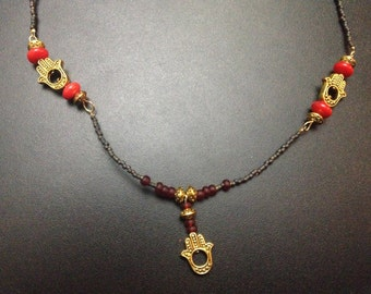 Red and Gold Chamsa