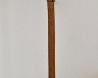 Danish Folk Art Carved Wood Floorlamp