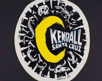 Santa Cruz Jeff Kendall Boneyard  Moon Skateboard sticker