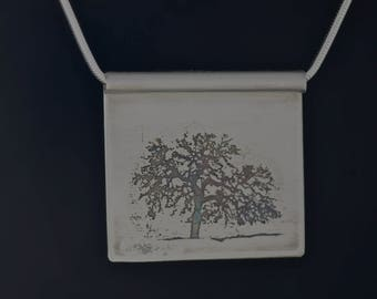 Etched Pendant: Tree One