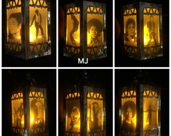 Prince and Michael Jackson Inspired Battery-Operated Plastic Mini Lanterns (Gold)