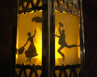 Mary Poppins - Battery-Operated Plastic Mini Lanterns (Gold)