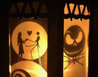 Disney The Nightmare Before Christmas Inspired Battery-Operated Plastic Lanterns (Gold Mini)