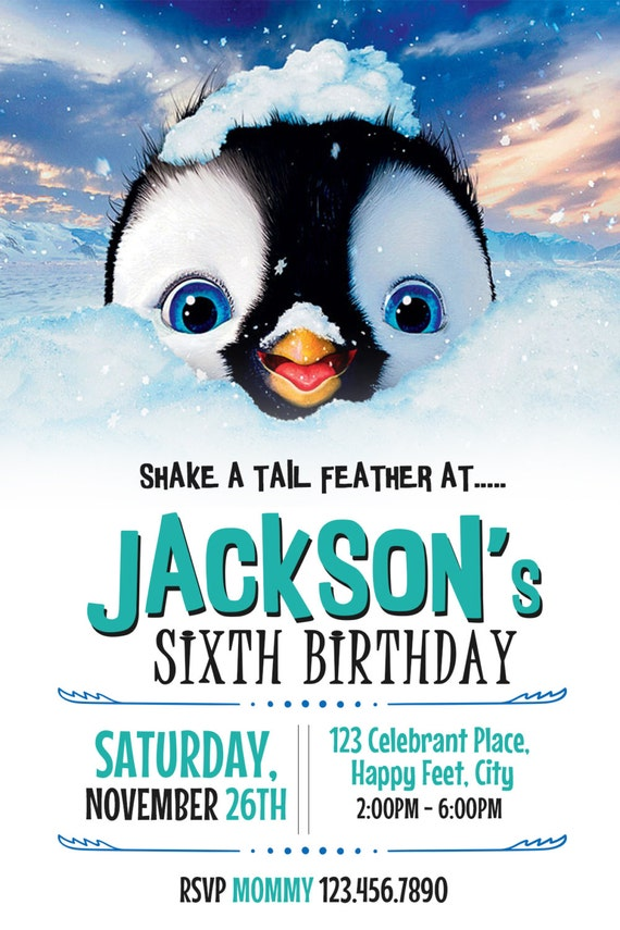 happy feet invitation happy feet birthday happy feet