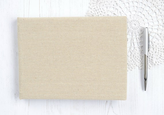 Plain Guest Book DIY Guest Book Linen Covered Rustic Wedding