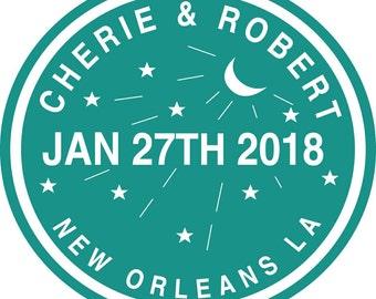New Orleans, LA Labels - 2 inches each - 12 labels per page